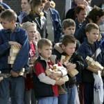 De meiden op de opendag van de politie zhz 09-10-2004