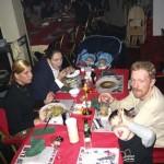 het kerst eten met hermann en gaby 25-12-2004