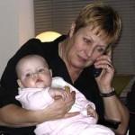 Bij oma op haar verjaardag 22-01-2005