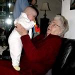 bij oma van rooij 14-02-2005