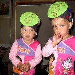Kimberly en Isabella vieren verjaardag op school 06-09-2007
