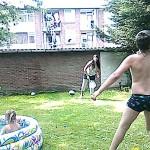 Bij Eva in Tuin en Zwembad 11-06-2008