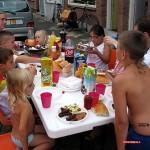 Gezamelijk eten 30-07-2008
