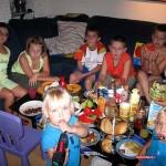 na bad effen tuteren voor het eten 04-08-2008