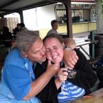 Dag je Drievliet en wie komen we tegen Rene met kids 11-08-2008