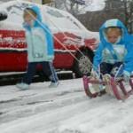 Lekker in de sneeuw 23-11-2008