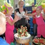 Verjaardag op weizigtschool Kimberly en Isabella 08-07-2009