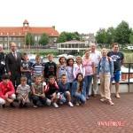 De aankomst op gemeentehuis in Sliedrecht 15-07-2010