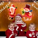 Kimberly en Isabella _ Bruce wensen iedereen een geweldig goed 2007