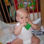 Isabella klimt uit haar stoeltje 05-07-2005